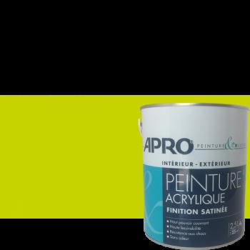 Peinture Apro multi-supports Murs, plafonds, boiseries, plinthes...vert pomme satin 2,5 L