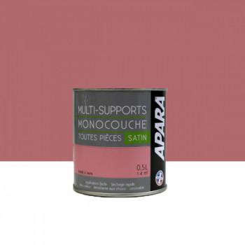 Peinture Apara multi-supports  Murs, plafonds, boiseries, plinthes...  rose barbe à papa satin 0,5L
