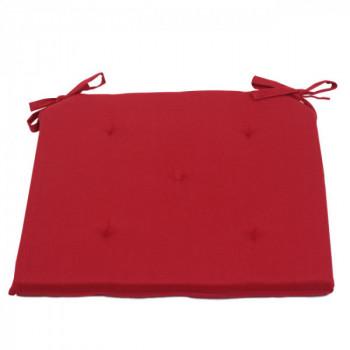 Galette piquée 5 points rouge 40 x 40 cm