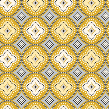 Toile cirée motifs géométrique curry 140 cm