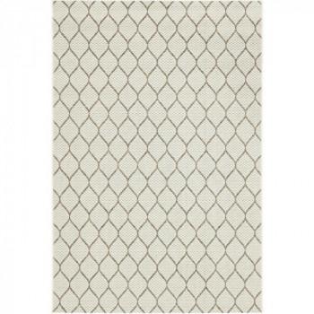 Tapis beige motif losange 120 x 170 cm