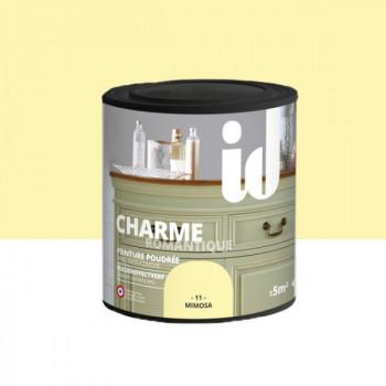 Peinture Id Déco multi-support charme romantique poudrée mimosa mat 0,5 L