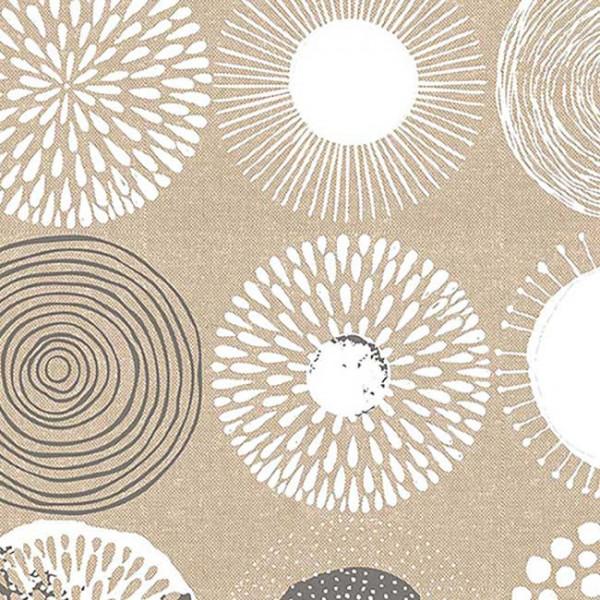 Tissu enduit géométrique floral 140 cm