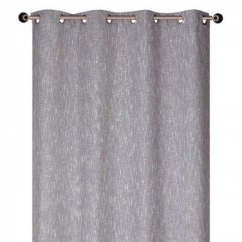 Rideau jacquard gris chiné