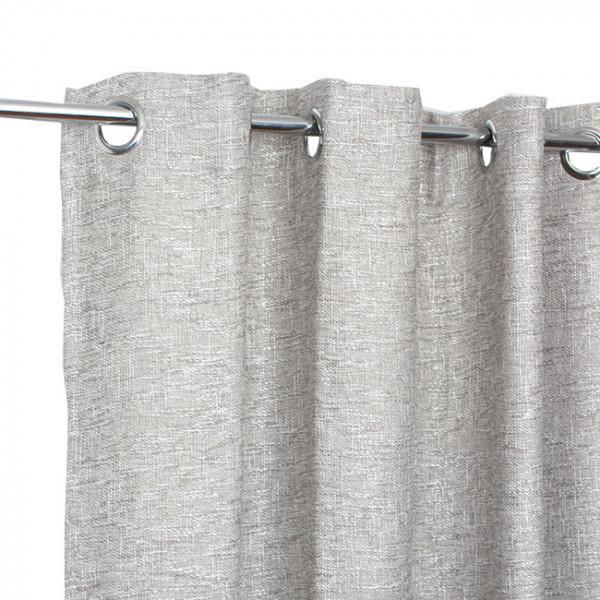 Rideau œillets jacquard gris aspect...