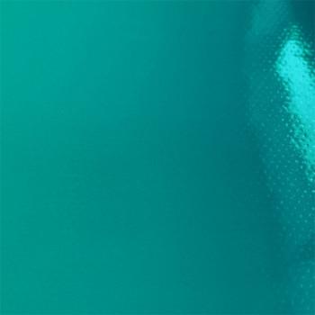Toile cirée unie laquée bleu pétrole 140 cm
