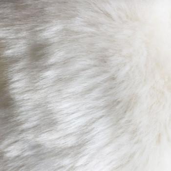 Tissu imitation fourrure blanc 140 cm