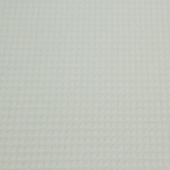 Tissu nid d'abeille blanc 150 cm