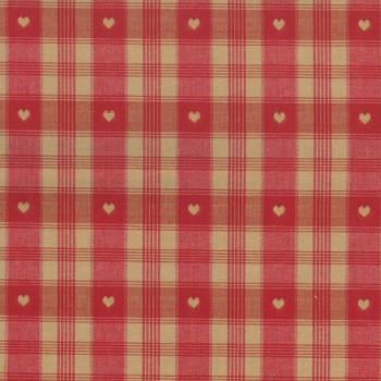 Tissu tissé teint rouge beige 160 cm