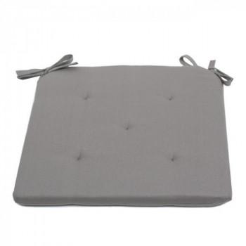Galette piquée 5 points gris clair 40 x 40 cm