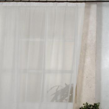 Rideau voile blanc uni