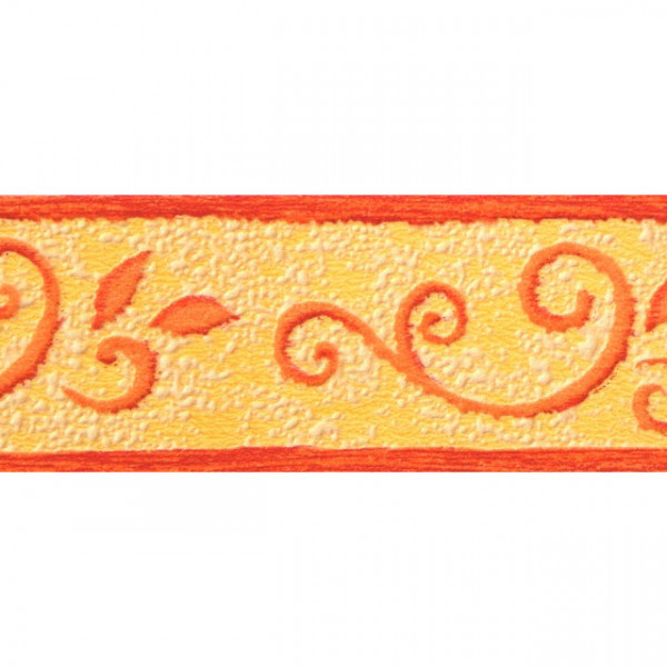 Bordure adhésive à motif orange