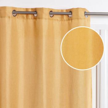 Rideau tissu jaune fil lurex