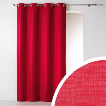 Rideau tissu jacquard effet moiré rouge