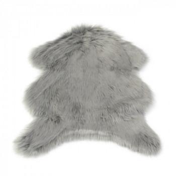 Tapis peau de mouton gris 90 x 60 cm