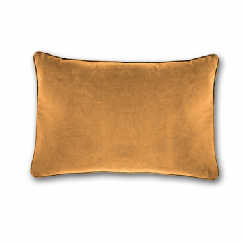 Coussin velours uni moutarde