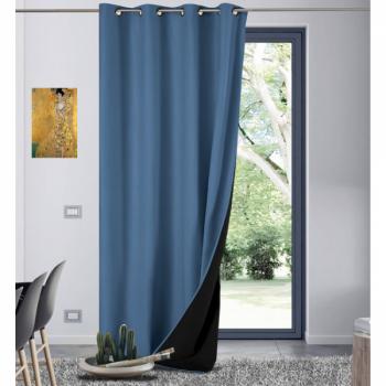 Rideau Galena isolant thermique bleu