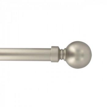 Kit tringle boule argent 120 - 210 cm