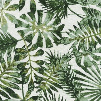 Tissu jacquard motif palme végétale 140 cm