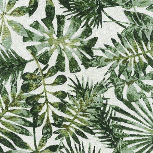 Tissu jacquard motif palme végétale...