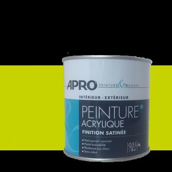 Peinture Apro multi-supports  Murs, plafonds, boiseries, plinthes… vert pomme satin 0,5 L