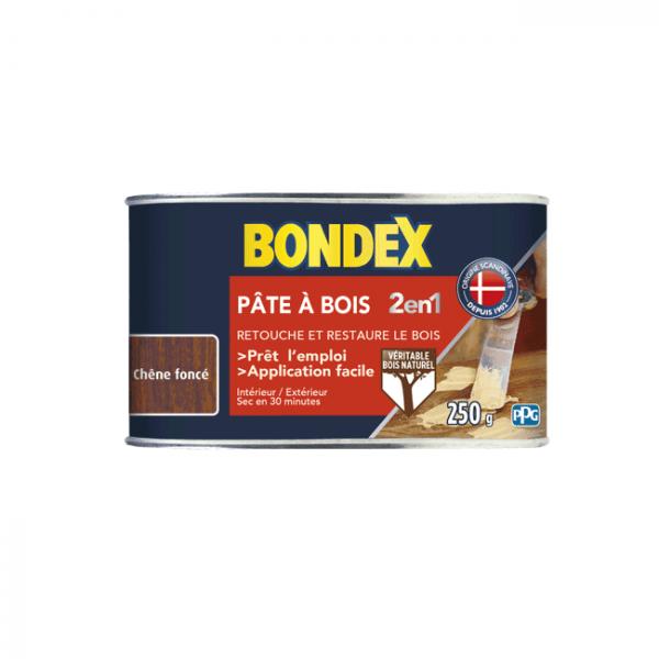 Pâte à bois 2 en 1 BONDEX chêne foncé...