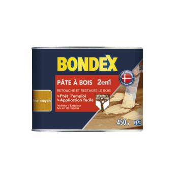 Pâte à bois 2 en 1 BONDEX chêne moyen aspect mat