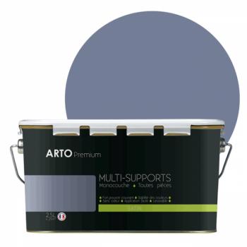 Peinture arto premium multi - supports murs, plafonds, boiseries, plinthes et radiateurs bleu Fiord satin 2,5 L