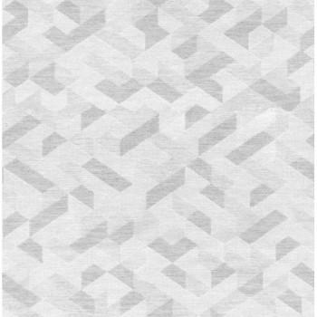 tissu jacquard gris geometrique 140 cm