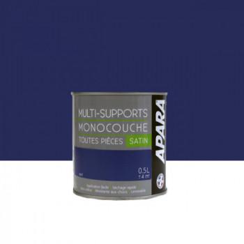 Peinture Apara multi-supports  Murs, plafonds, boiseries, plinthes...  bleu nuit satin 0,5L