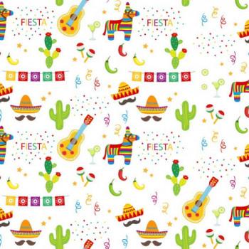 Tissu coton imprimé Fiesta 150 cm