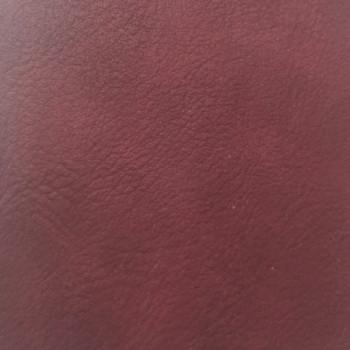 Tissu simili cuir uni rouge 140 cm