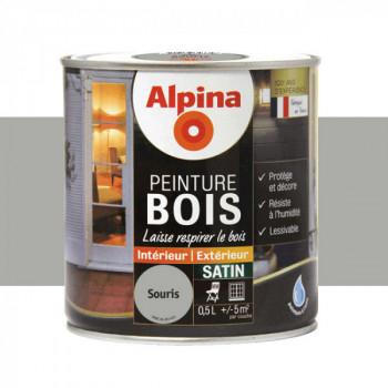 Peinture Alpina spéciale bois satin gris