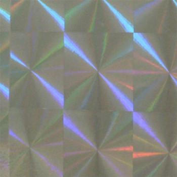 Rouleau adhésif motif carrés holographiques