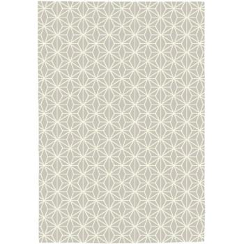 Tapis motifs géométriques crème - taupe 160 x 230 cm