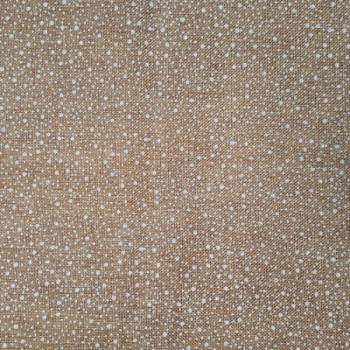 Tissu coton effet jute motif flocons pailletés 150 cm