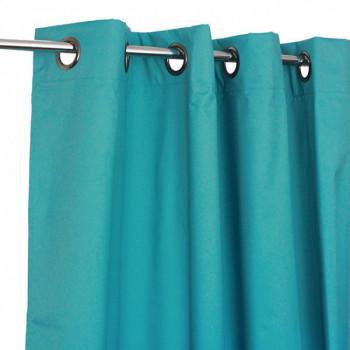 Rideau thermique œillets bleu