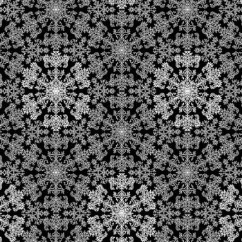 Tissu coton enduit noir paillettes argentées 155 cm