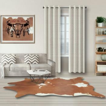 Tapis imitation peau de vache marron 180 x 220 cm