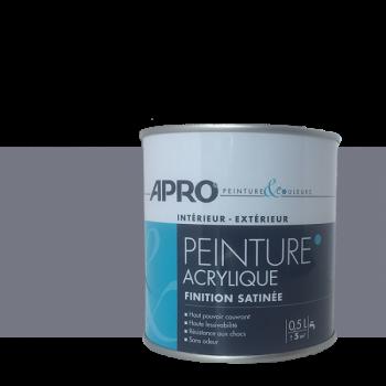 Peinture Apro multi-supports  Murs, plafonds, boiseries, plinthes… gris anthracite satin 0,5 L