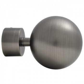 Embout OLYMPE Boule argent vieilli 28 mm