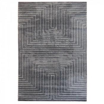 Tapis gris motif 3D 120 x 170 cm