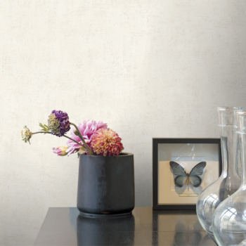 Papier peint intissé béton mat beige ficelle