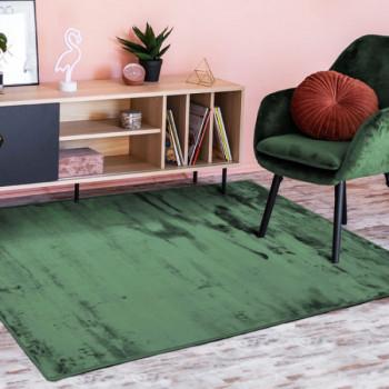 Tapis flanelle Vert foncé 120 x 170 cm