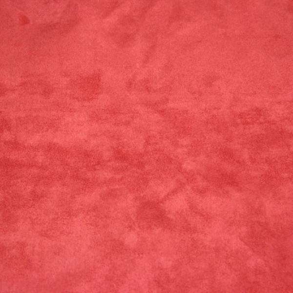 Tissu suédine cerise 140 cm