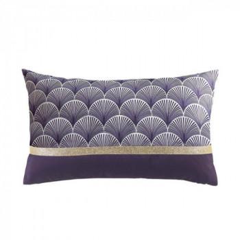 Coussin rectangle Art déco violet