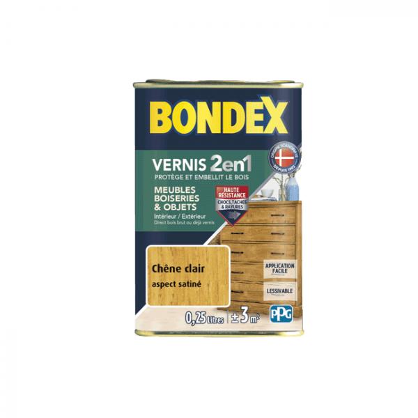 Vernis Bondex 2 en 1 incolore satin...