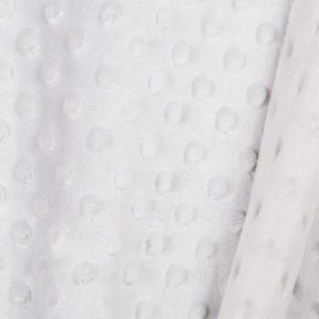 Tissu doux gris Pois 150 cm