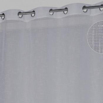 Rideau œillets étamine gris