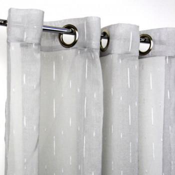 Rideau étamine fil coupé gris